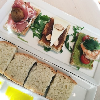 Crostini at Fig and Olive